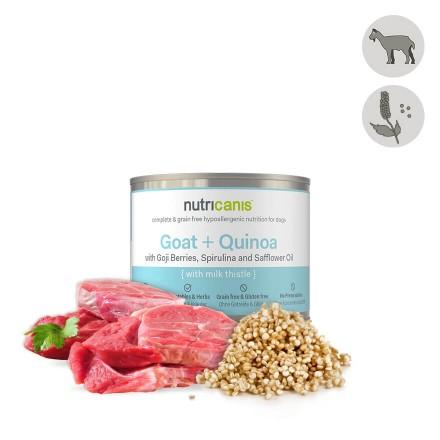 Vådfoder til hund voksen: 200g Ged + quinoa