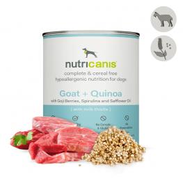 Vådfoder til hund voksen: 800g Ged + quinoa