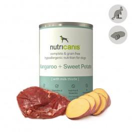 Hypoallergent vådfoder til hunde: 400g Kænguru + Sød Kartoffel