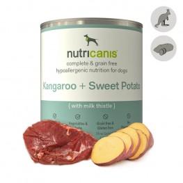 Hypoallergent vådfoder til hunde: 800g Kænguru + Sød Kartoffel