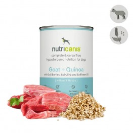 Vådfoder til hund voksen: 400g Ged + quinoa