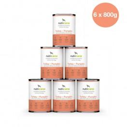 Vådfoder til hunde: 6 x 400g Kalkun + Græskar med marietidsel