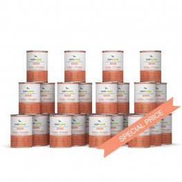 Hvalpefoder til hunde: 24 x 400g Lam + Søde Kartofler